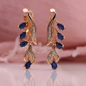 Gold Plated Sapphire Earrings